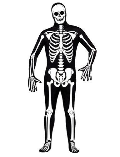 Skeleton Full Body Suit - Adult Small