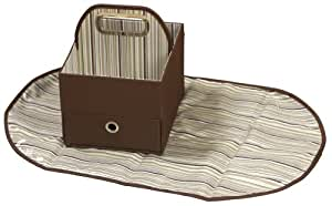 JJ Cole Collections Diaper Caddy, Cocoa Stripe (Discontinued by Manufacturer)