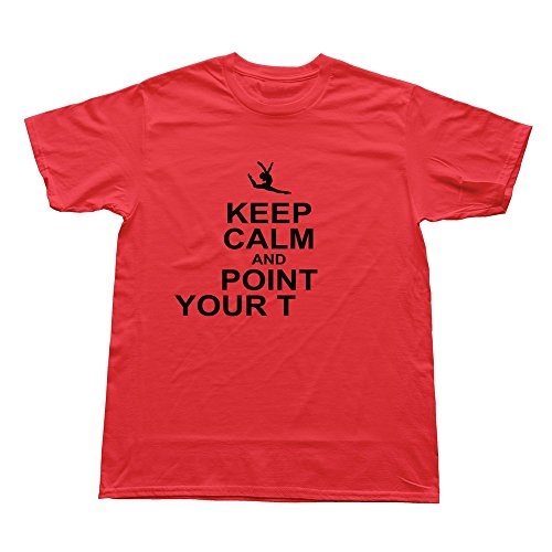 Goldfish Men'S Online Blank Keep Calm Piont Toes T-Shirt Red Us Size M