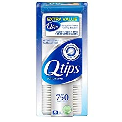 Q Tips Cotton Swabs (750 Ct 2 Pk) + 30 Ct Travel Pack
