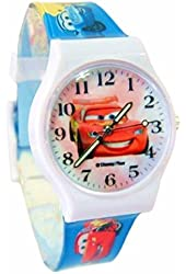 """Disney Cars Watch For Kids .Glow In The Dark Watch Hands .Large Analog Dial. 9""""L Band."""