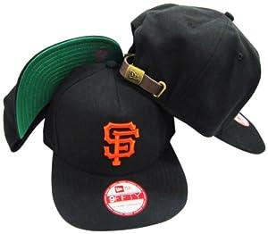 San Francisco Giants Solid Leather Strapper Adjustable Strapback Hat Cap by New Era
