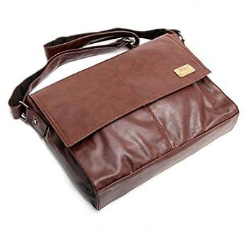 Good&god Vintage Pu Leather Men Business Briefcase Laptop Messenger Bag 2