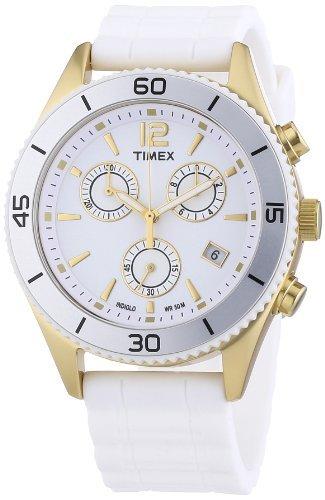 Timex Premium Originals Chronograph White Dial Unisex Watch T2N827
