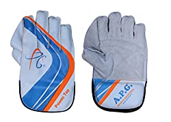 APG Pawan Top Wicket Keeping Gloves (White)