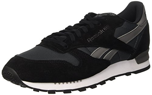 Reebok Classic Leather Clip Ele, Scarpe da Ginnastica Basse Uomo, Nero (Gravel/Black/Medium Grey), 44 EU