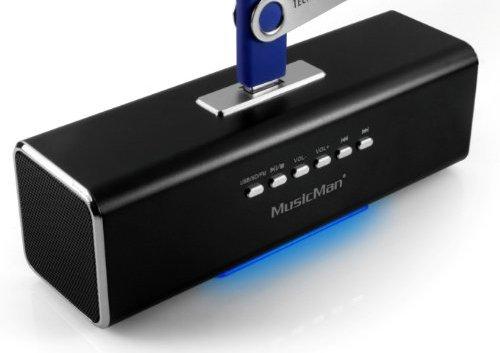 MusicMan MA Lautsprecher (MP3-Player, Soundstation & Radio, USB, Line-In) schwarz