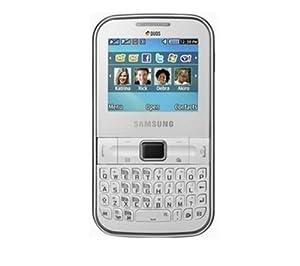 SAMSUNG Cha@t322 Pure white (DUAL SIM UNLOCKED QUADBAND)1.3 CAMERA,BLUETOOTH, MEMORY CARD SLOT,FM RADIO, MP3, MP4 VIDEO, QWERTY KEYBOARD GSM CELL PHONE