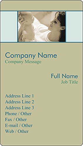 Vistaprint Green Baby Vertical Business Card Stickers front-948226
