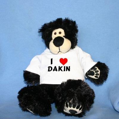 Plush Black Teddy Bear (Thumples) toy  I Love