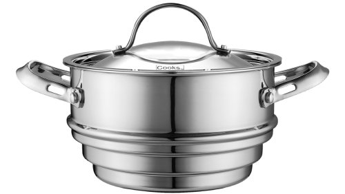 Cooks Standard Multi-Ply Clad Stainless-Steel Universal Steamer Insert with Lid (Cook Standard Steamer compare prices)