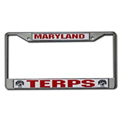 Buy Maryland Terrapins Chrome License Plate Frame by Rico