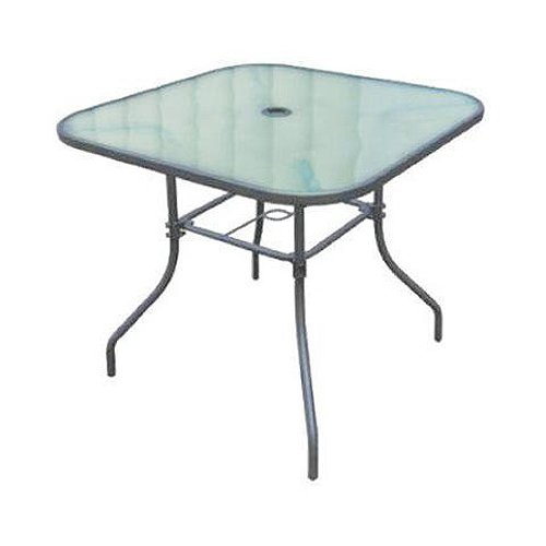 Courtyard Creations TGS32HG Fisher Island Square Glass Table, 32-Inch