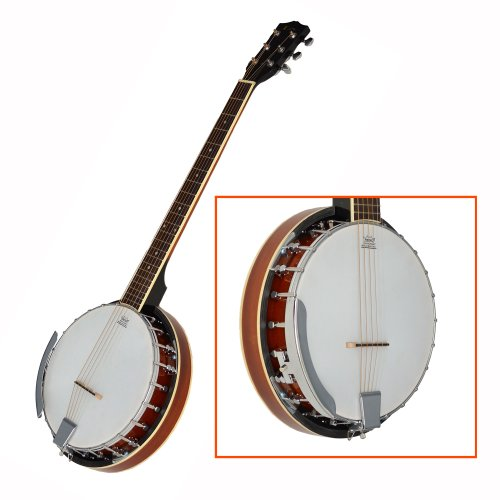 Ts ideen 4418 banjo bluegrass 6 cordes marron banjo for Ts ideen