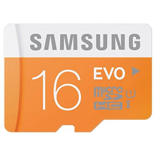microSDカード 16GB SAMSUNG EVO Class10 UHS-I対応 (最大転送速度48MB/s) 10年保証 MB-MP16D/FFP 【日本サムスン正規品】