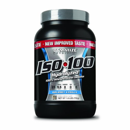 Dymatize Iso 100 Post Workout And Recovery Supplements, Gourmet Vanilla, 1.6 Pound (Pack Of 6)