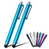 2xFirst2savvv blue Touch screen stylus pen for Sony Ericsson Aino Satio Ericsson Vivaz Vivaz Pro Xperia arc Xperia neo Xperia PLAY Xperia pro Xperia X2 Xperia X8 Xperia X10 Xperia X10 mini Xperia X10 mini pro Xperia mini Xperia mini pro txt pro mix walkm