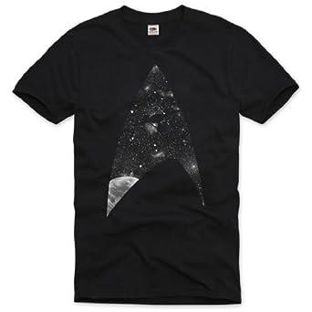 style3 L'Ultime Frontière T-Shirt Homme trek trekkie star roddenberry univers sci-fi serie big bang tbbt, Size:S
