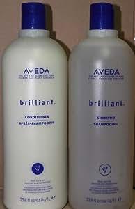 Amazon.com : Aveda Brilliant Shampoo 33.8 oz & Conditioner ...
