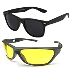 Mayatras Wayfarer Combo Sunglasses (Black Yellow) (M52)