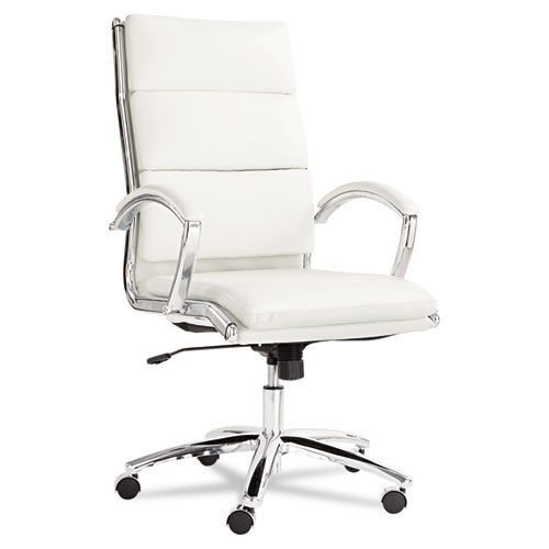 Alera Neratoli High-Back Swivel/Tilt Chair, Red Soft-Touch Leather
