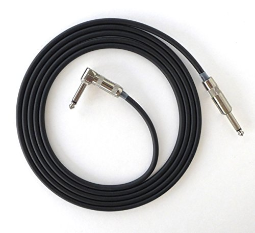 Death Valley Cable'S Best Handmade 8 Ft Guitar Cable - Nickel Straight To Angle G&H Plugs, 20 Awg Pure-Copper Cable!
