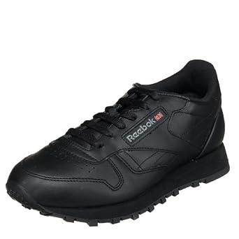 Reebok Women's Classic Leather Sneaker, Black, 5 M
