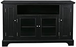Home Style 5531-10 Bedford Entertainment Credenza, Black