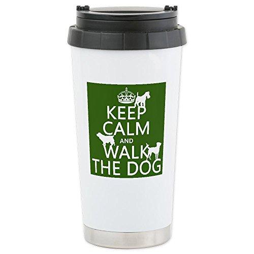 Cafepress Keep Calm And Walk The Dog Thermos Mug Ceramic Travel Mug - Standard