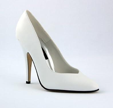 Seduce 5 Inch Sexy High Heel White Wedding Shoe Plain Pump