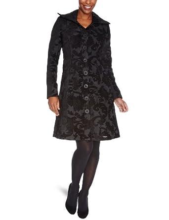 Desigual - Manteau coupe trapèze - Femme - Noir-Tr-H1-40 -FR : 48 (Taille fabricant : 46)