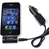 SANOXY®New All Channel Wireless Mini Rapid Automobile Car Charger Cigarette Lighter + FM Radio Adapter Transmitter /Modulator For Apple iPod / iPhone / iTouch 3G, & 3G S / Nano / Classic / Touch / Video MP3 player, -LCD Display,Black