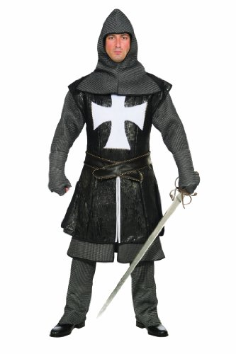 Forum Deluxe Designer Collection Medieval Black Knight Costume
