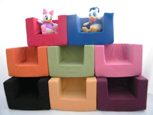 Children's Comfy Foam Armchair in Pink. Soft, Colorful, Comfortable & Lightweight with a Removeable Cover