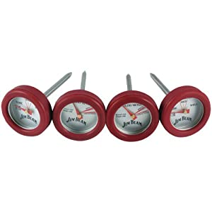 Jim Beam JB0134 Poultry and Steak Mini Thermometers, 4-Pack by Jim Beam