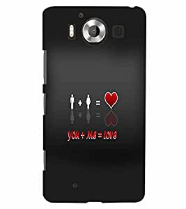PrintVisa Romantic Love Quotes 3D Hard Polycarbonate Designer Back Case Cover for Nokia Lumia 950