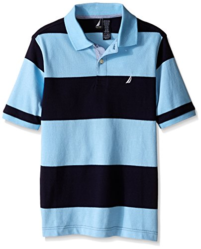 Nautica Little Boys' Short Sleeve Rugby Stripe Polo,Cool Breeze,XLarge(18/20) (Nautica Cool compare prices)