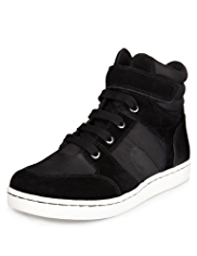 Leather High Top Retro Trainers