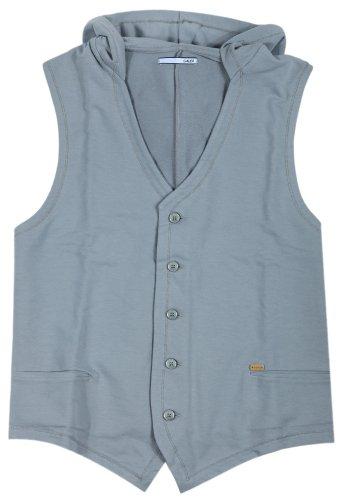 Gaudi felpa uomo clarytone senza maniche grigio GAU-HW001 grigio 56