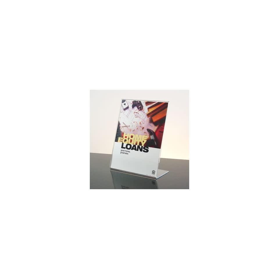 85x11 Slant Back Counter Acrylic Sign Holder On Popscreen