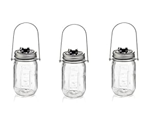 Solalux Glass Jar Solar Lights Outdoor Hanging LED Garden Lanterns from Solalux