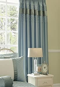 Vivaldi Blue 66x72 Cotton Pencil Pleat Fully Lined Curtains #euqissalc *tur* from PCJ Supplies