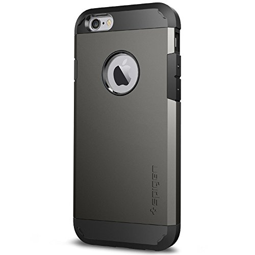 Spigen Tough Armor iPhone 6S Case with Extreme Heavy Duty Protection and Air Cushion Techonology for iPhone 6S / iPhone 6 - Gunmetal
