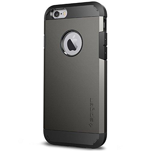 Spigen SGP11612 - Funda para iPhone 6 / 6S, Plata/Negro