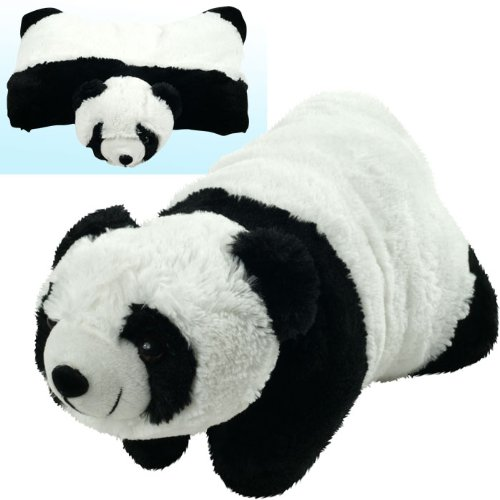 Cuddlee Pet Pillow - Panda Cuddlee Pets Are Excellent Companions for Long Trips or Vacations and Always Provide Kids with a Cuddly Buddy and a Comfortable Place to Lay Their Head