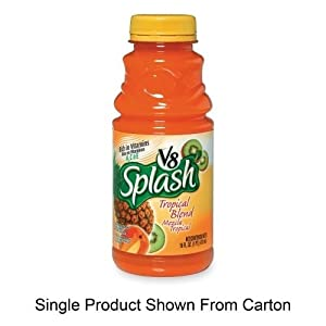 MJK5516 - V8 Splash Juice Drinks, 16oz, Tropical Blend