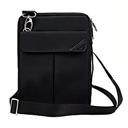 Padwa Lifestyle Pouch Soft Sleeve Carrying Bag Case with Handle Shoulder Strap Zipper for iPad Mini 4 Mini3 Mini2 Mini and 7 to 8 Inch Android Tablet PC (Black)