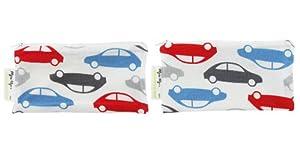 Itzy Ritzy Snack Happened - Bolsa reutilizable con cremallera para almuerzo (2 unidades, tamaño mini), diseño de coches marca Itzy Ritzy