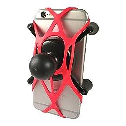 Texel WebGrip with RAM Mount X-Grip Phone Cradle B-Ball 1 inch (Red) TXL-HOL-UN7BR