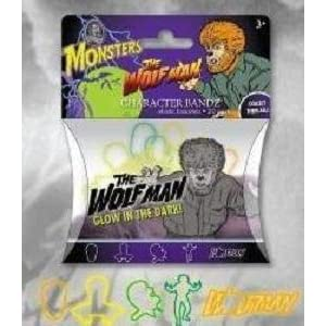 Monsters Wolfman Character Bandz Glow in the Dark - Halloween Pack of 20